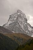 Matterhorn in bad weather Royalty Free Stock Images