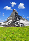Matterhorn. Beautiful mount Matterhorn - Swiss alps Royalty Free Stock Image