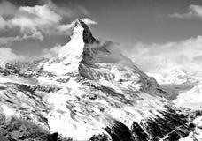 Matterhorn berg av berg royaltyfri fotografi