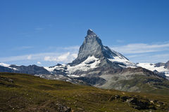 Matterhorn-Berg in Zermatt, die Schweiz Lizenzfreies Stockbild