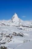 Matterhorn-Berg in Zermatt, die Schweiz stockfoto
