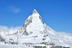 Matterhorn-Berg in Zermatt, die Schweiz lizenzfreies stockfoto