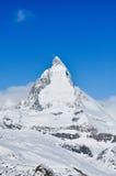 Matterhorn-Berg in Zermatt, die Schweiz stockfotos