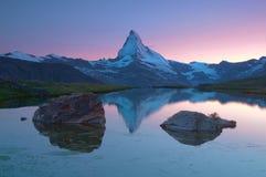 Matterhorn bij zonsondergang Royalty-vrije Stock Afbeelding