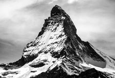 Matterhorn in black and white Royalty Free Stock Photography