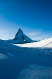Matterhorn blu Fotografia Stock Libera da Diritti