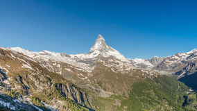 Matterhorn with blue sky, Zermatt, Switzerland Stock Photo
