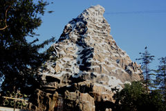 Matterhorn Bobsleds, Disneyland Fantasyland, Anaheim, California. In intertwining Steel Roller coasters, modelled after the Matterhorn, a mountain in the Alps stock photos