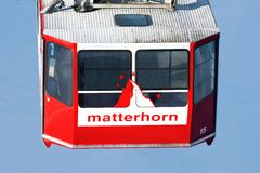 Matterhorn cable car Royalty Free Stock Image