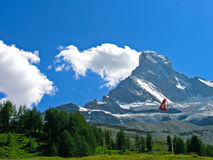 Matterhorn (Cervin) cerca de Zermatt, Suiza Imagen de archivo libre de regalías