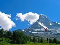 Matterhorn (Cervin) nahe Zermatt, die Schweiz Lizenzfreies Stockbild