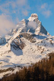 Matterhorn cervino with clouds at afternoon Royalty Free Stock Photos