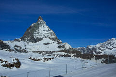 Matterhorn chez Trockener Steg Skifield Photo libre de droits