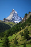 Matterhorn. Classical view from Zermatt Stock Photos