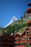 Matterhorn. Classical view from Zermatt Stock Image