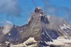 The matterhorn in the clouds Royalty Free Stock Photo