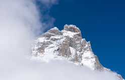 The Matterhorn in the clouds Royalty Free Stock Image