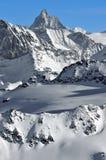 Matterhorn come veduto dall'ovest Fotografie Stock Libere da Diritti