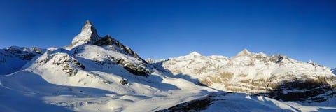 Matterhorn da Schwarzsee Fotografia Stock Libera da Diritti