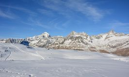 Matterhorn dal lato di Swizz Fotografia Stock
