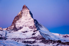 Matterhorn at dawn Royalty Free Stock Image