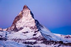 Matterhorn at dawn Royalty Free Stock Image