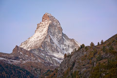 Matterhorn at dawn Stock Image