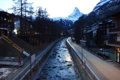 Matterhorn Dawn View royaltyfria foton