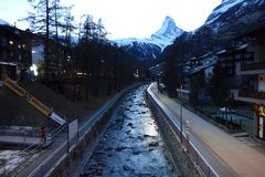 Matterhorn Dawn View royalty free stock photos