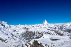 Matterhorn, de beroemdste berg in Zermatt, Zwitserland Royalty-vrije Stock Foto's