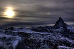 Matterhorn in de herfst Stock Fotografie