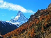Matterhorn in de herfst Royalty-vrije Stock Fotografie