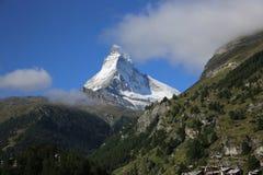 Matterhorn de la cara de Swizz Foto de archivo