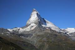 Matterhorn de la cara de Swizz Imágenes de archivo libres de regalías