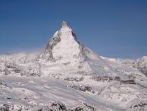 Matterhorn de la cara de Swizz Foto de archivo libre de regalías