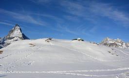 Matterhorn de la cara de Swizz Imagen de archivo libre de regalías