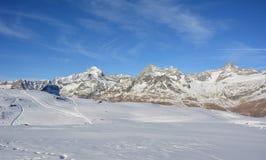 Matterhorn de la cara de Swizz Fotografía de archivo