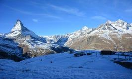 Matterhorn de la cara de Swizz Imagen de archivo