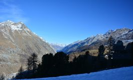Matterhorn de la cara de Swizz Fotos de archivo