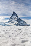 Matterhorn in de winter, Zermatt, Zwitserland Royalty-vrije Stock Foto