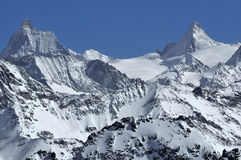 Matterhorn and Dent d'Herens Stock Image