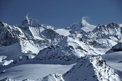 Matterhorn and Dent d'Herens Stock Images