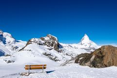 Matterhorn, der berühmteste Berg bei Zermatt, die Schweiz Stockbilder