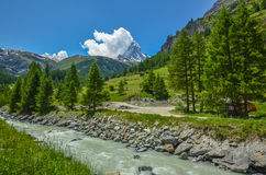 Matterhorn, dessus des alpes suisses photos libres de droits