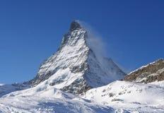 Matterhorn di punta in alpi svizzere Fotografia Stock