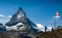 Matterhorn die Schweiz Stockfoto