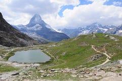 Matterhorn. Die Schweiz. lizenzfreie stockfotografie
