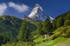 Matterhorn, die Schweiz Stockbild