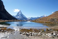 Matterhorn die Schweiz Stockfotos