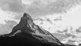 Matterhorn at Dusk. The sun has just set behind Switzerland's most iconic mountain Royalty Free Stock Photos